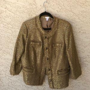 Chico's gold sequin blazer